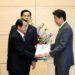 安倍総理は北朝鮮に拉致された日本人を救う福井の会及び拉致被害者の地村保志(やすし)氏等と面会しました